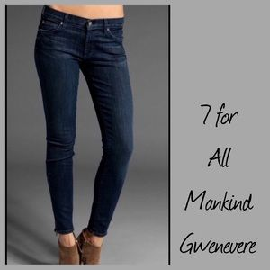 7 for all Mankind Gwenevere Ankle Jeans 28 DK wash